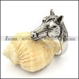 Stainless Steel The horse Ring - r000342
