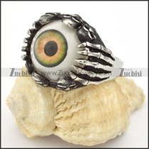 Ugly Stainless Steel Eye Ring - r000320