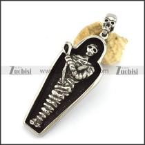 Mummy Pendant with Skull Buckle p002826