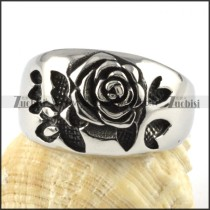 Stainless Steel Rose Ring - r000067