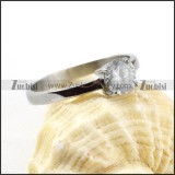 Normal Stainless Steel Zircon Ring - r000033