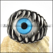 Stainless Steel Blue Wonder Eyes Ring - r000066