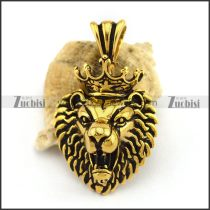 Vintage Gold Plating Lion King Pendant p002890