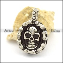 Bicycle Chain Shaped Skull Pendant p002377