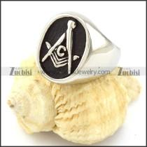 Oval Stainless Steel Masonic Rings Men -r000891