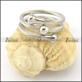 Stainless Steel Rope Ring -r000571