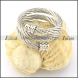 Stainless Steel Rope Ring -r000570