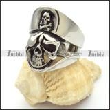 stainless steel skull rings for men -r000480