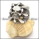 Stainless Steel Skull Devil Rings for men -r000481