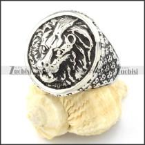 Huge Stainless Steel Lion Rings -r000653