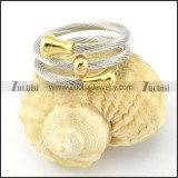 Stainless Steel Rope Ring -r000573
