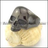 black small stainless steel casting skull rings for women r001210