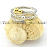 Stainless Steel Rope Ring -r000572