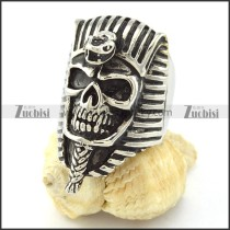 Egypt Mummy Ring in Stainless Steel with Snake Face -r000978