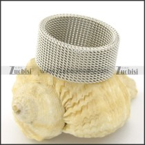 Classical Stainless Steel Net Ring r001138