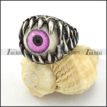 beautiful 316L Stainless Steel Purple Eye Biker Ring with punk style for Motorcycle bikers - r000535