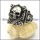 skull ring for men with retro style from china biggest fashion jewelry supplier -r001085