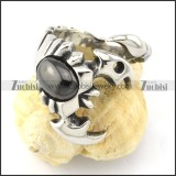 hot selling scorpion Ring with Black Stone in Stainless Steel for 2013 collection -r000841