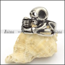 Stainless Steel Skull Rings -r000378