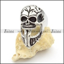 Stainless Steel Skull Rings -r000417