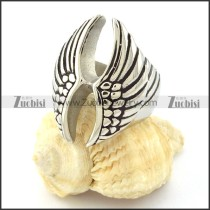 Double Wing Stainless Steel Rings -r000643