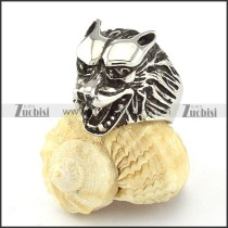 clean-cut noncorrosive steel wolf Ring with punk style for Motorcycle bikers - r000540