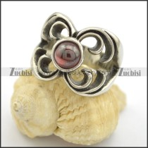 round red cat eye stone flower ring r001730