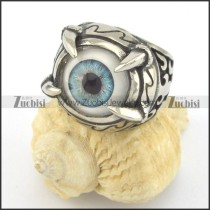 light blue evil eye ring for daily wearing r001427