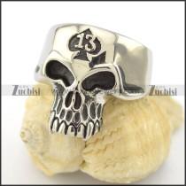 13 skull ring r001603
