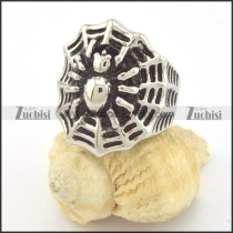 spider ring with net in stainless steel r001340