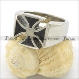 Black Epoxy Cross Ring r001508