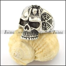 spider net skull ring r001574