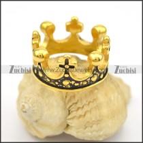 antique gold plating crown ring r001650