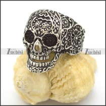 Sugar Skull Ring in Stainless Steel r002155