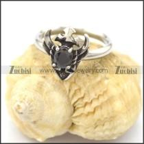 black zircon love rings for women r002080