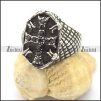 casting cross ring with cross shaped rhinestones r002125