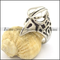 Stainless Steel Casting Eagle Head Ring r001871