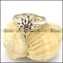 red crystal thin band rings for women r002069