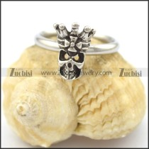 crown skull head ring for lady r002085