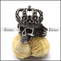 vintage crown skull ring r001986