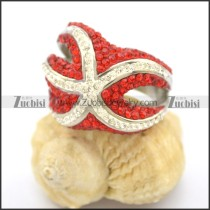 Red and White Rhinestones Fashion Rings r002372