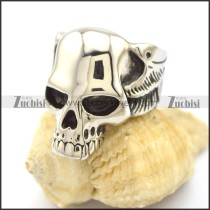 deformed skull ring r002202