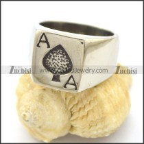 Ace of Spade Ring with US size from 7 to 13 r002335