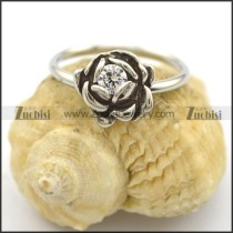 rose ring for women with clear rhinestone r002220