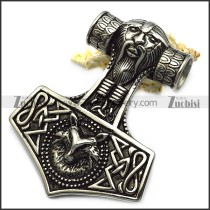 large viking thor hammer pendant p007763