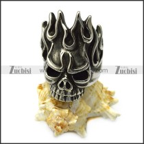 Big Flame Head Skull Stainless Steel Biker Skeleton Rings up to US Size 15 r005711