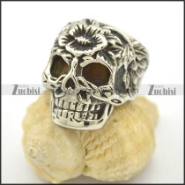 Flower Forehead Skull Ring r002520