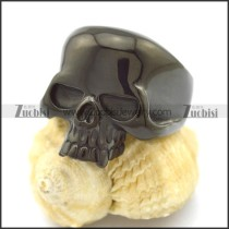 Black Cheap Skull Rings r002607