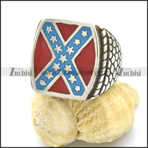 Dixie confederate flag design biker ring for mens rebel for Rebel designs jewelry sale
