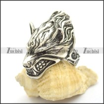rough stainless steel fierce wolf ring r002427